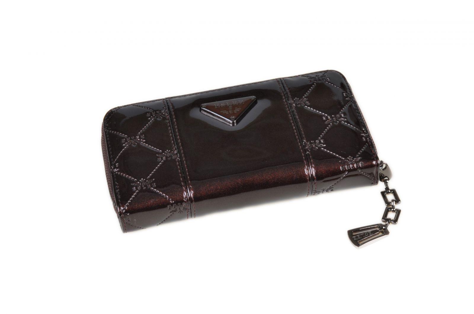 Dámská peněženka lakovaná ESLEE 6236 brown E-batoh
