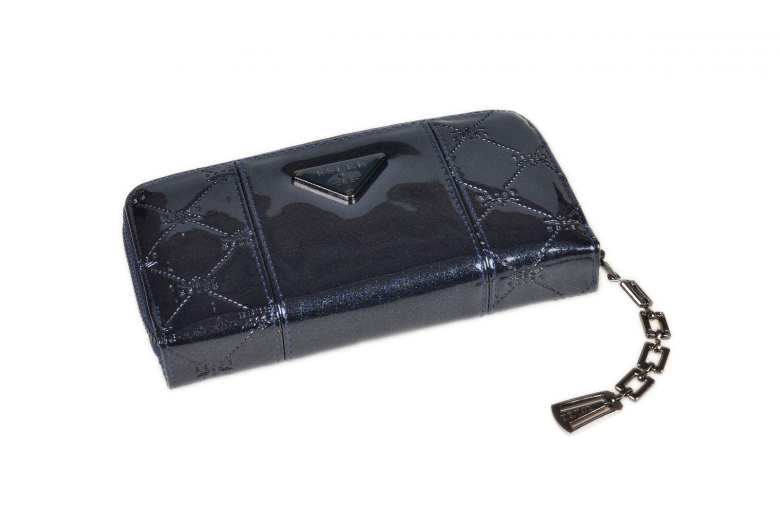 Dámská peněženka lakovaná ESLEE 6236 blue E-batoh