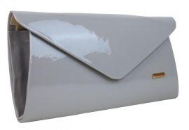 Luxusní světle šedé dámské psaníčko SP126 GROSSO E-batoh