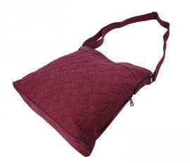 Velká červená crossbody kabelka z broušené kůže 613-3 Tapple E-batoh