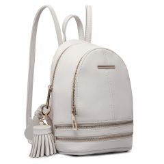 Roztomilý bílý designový dámský batůžek Miss Lulu Lulu Bags (Anglie) E-batoh