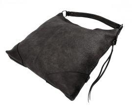Šedá dámská kabelka na rameno v jemném kroko designu 2456-BB Maria Marni E-batoh