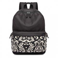 Černý unisex batoh do školy s vodoodpudivou úpravou Miss Lulu