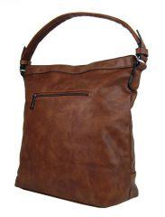 Elegantní kombinovaná dámská kabelka se vzorem NH6071 hnědá New Berry E-batoh