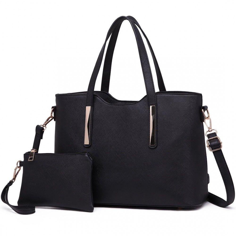Praktický dámský kabelkový set 2v1 Miss Lulu černá