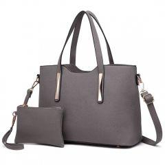 Praktický dámský kabelkový set 2v1 Miss Lulu šedá