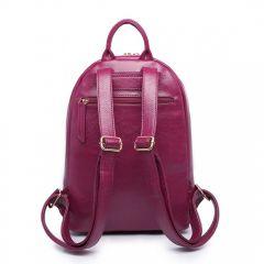 5ae34ab9a7f Vínově červený dámský elegantní batoh Miss Lulu Lulu Bags (Anglie) E-batoh