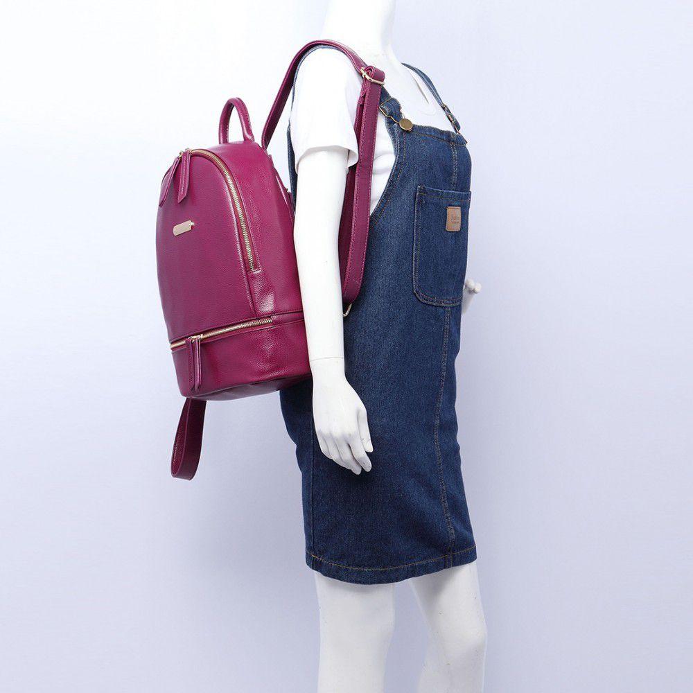 42e147e8c7 Vínově červený dámský elegantní batoh Miss Lulu Lulu Bags (Anglie) E-batoh