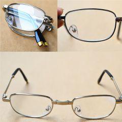 SKLÁDACÍ dioptrické brýle silver PD 62-64 +1,00 E-batoh