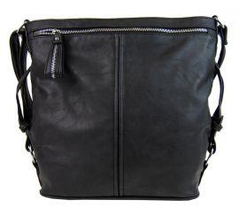 Moderní velká crossbody kabelka 74-MH černá