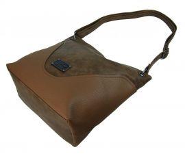 Velká dámská crossbody kabelka 2467-BB hnědá camel BELLA BELLY E-batoh