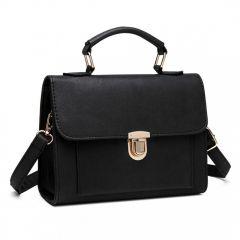 Černá malá dámská aktovková kabelka do ruky Miss Lulu