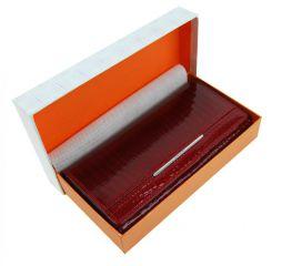 Dámská kožená peněženka v krabičce Cossroll 02-5242-1 karmínově červená E-batoh