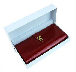 Dámská kroko kožená peněženka v krabičce Cossroll A16-5242 červená E-batoh
