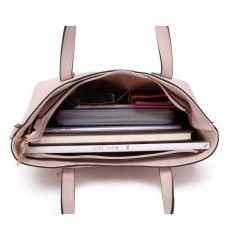 Praktický dámský kabelkový set 2v1 Miss Lulu béžová Lulu Bags (Anglie) E-batoh