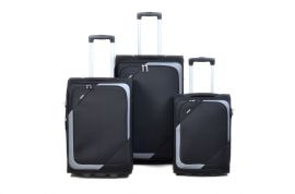 Sada cestovních kufrů 3ks d&n 7200 black / l´grey