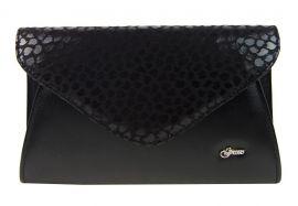 Luxusní černé matné dámské psaníčko SP126 GROSSO