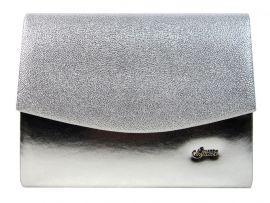 Luxusní stříbrná brokátová listová kabelka / psaníčko SP132 GROSSO