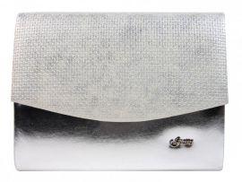 Luxusní stříbrná měsíční listová kabelka / psaníčko SP132 GROSSO