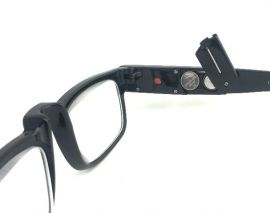 Dioptrické brýle se světýlkama +4,00 černé obruby E-batoh