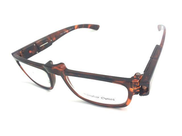 Dioptrické brýle se světýlkama +3,50 hnědé obruby