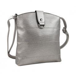 Malá dámská crossbody kabelka H17377 stříbrná