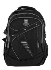 Větší batoh NEWBERRY do školy i na sportování L1911 černo-šedý