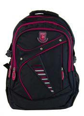 Větší batoh NEWBERRY do školy i na sportování L1911 černo-růžový