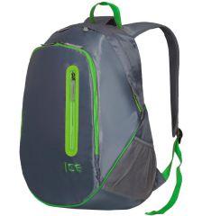 Batoh ICE 7562 - šedá/zelená