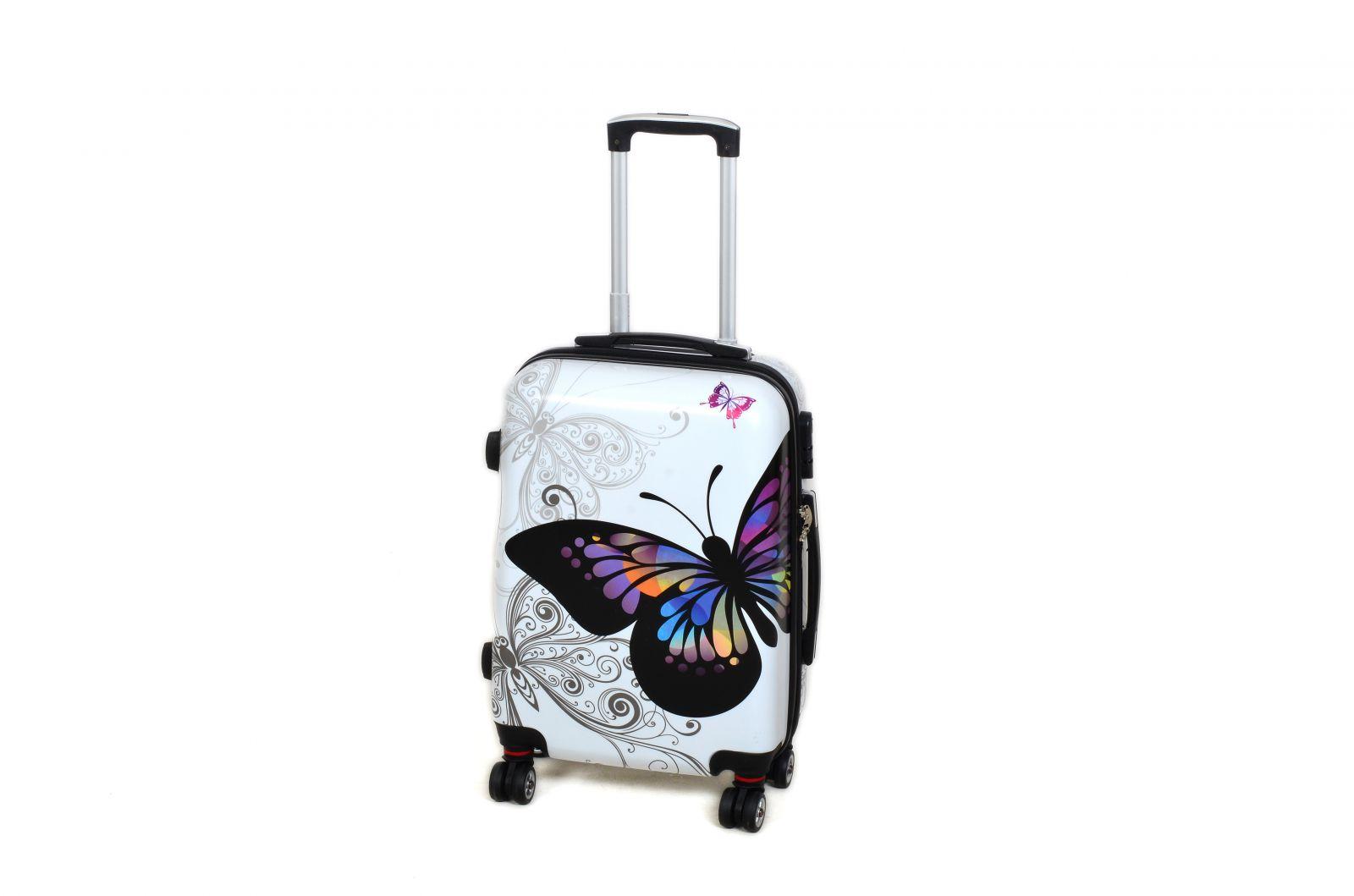 Cestovní kufr ABS MOTÝL TR-A29E S E-batoh