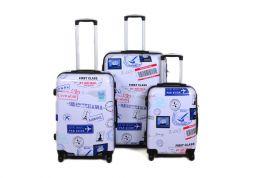 Cestovní kufry sada ABS POSTCARD TR-A29E