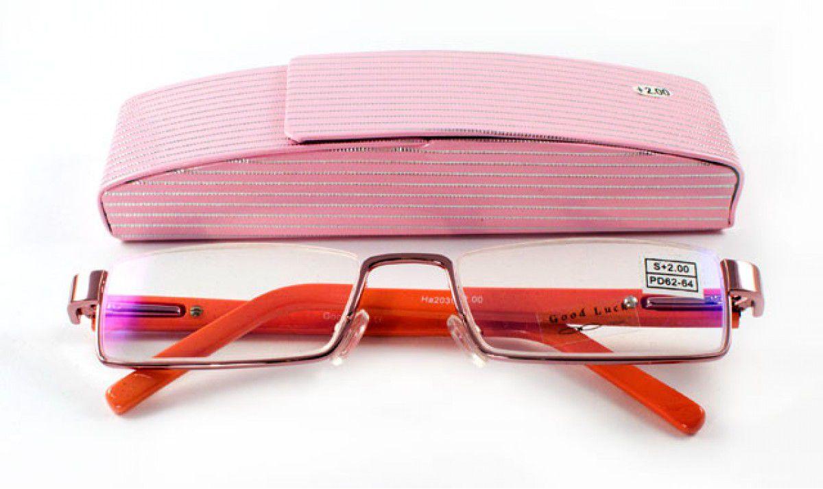 Dioptrické brýle Good Luck  2039 1/  +4,00 s pérováním + pouzdro