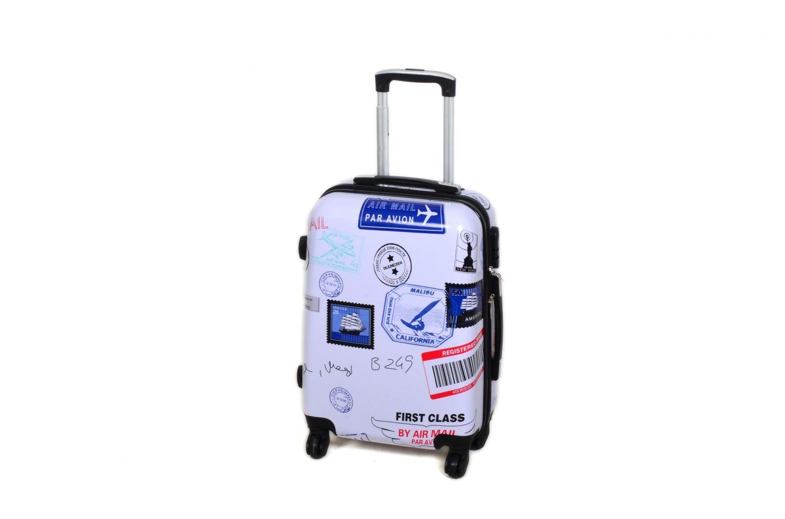 Cestovní kufr ABS POSTCARD TR-A29E M E-batoh
