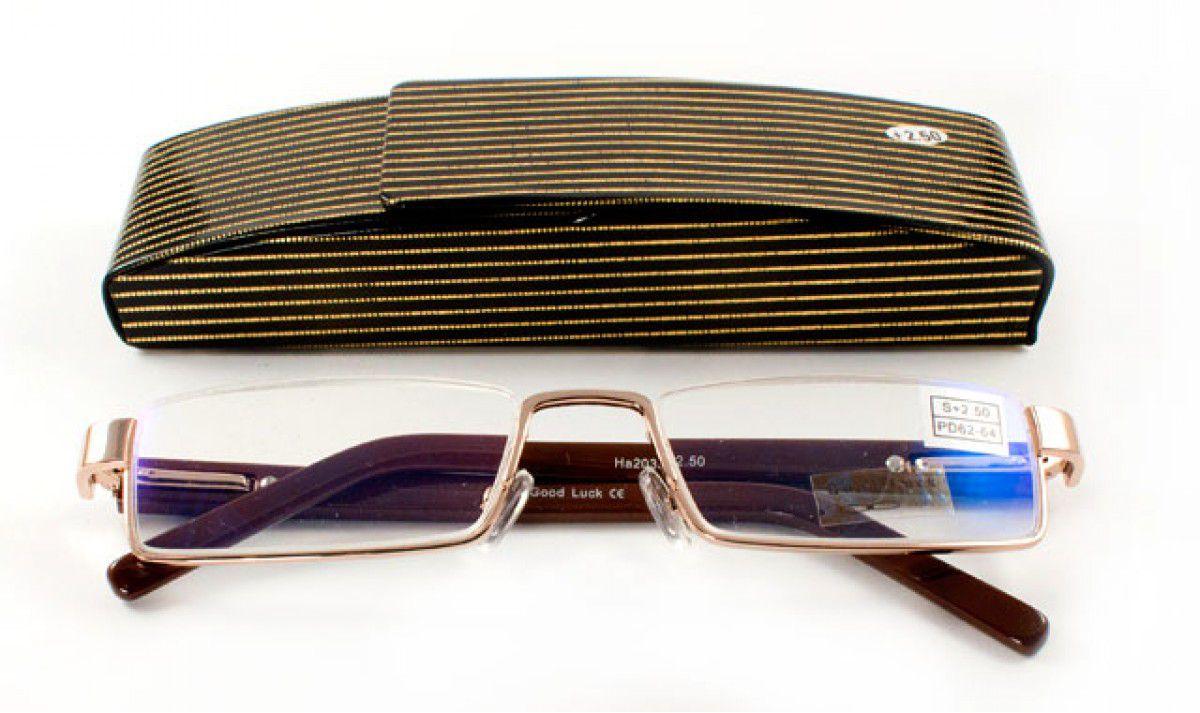 Dioptrické brýle Good Luck  2039 2/  +3,00 s pérováním + pouzdro