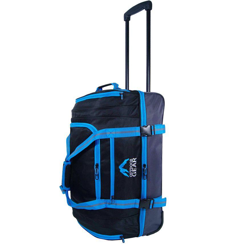 """Cestovní taška na kolečkách GEAR T-805/22"""" - černá/modrá"""