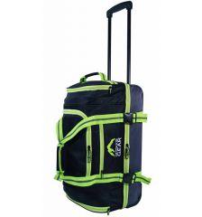 """Cestovní taška na kolečkách GEAR T-805/22"""" - černá/zelená"""