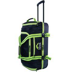 """Cestovní taška na kolečkách GEAR T-805/26"""" - černá/zelená"""
