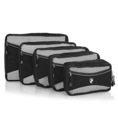 Heys Ecotex Packing Cube Set Black – sada 5 ks