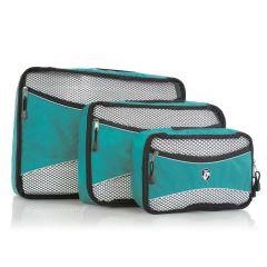 Heys Ecotex Packing Cube Set Turquoise – sada 3 ks