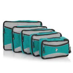 Heys Ecotex Packing Cube Set Turquoise – sada 5 ks
