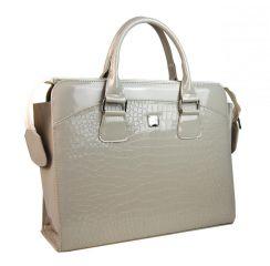 PUNCE LC-01 béžová dámská kabelka pro notebook do 15.6 palce E-batoh