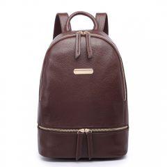 Kávově hnědý dámský elegantní batoh Miss Lulu