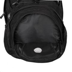 Batoh v elegantním designu s funkčními prvky Travelite Basics Multifunctional Backpack Black E-batoh