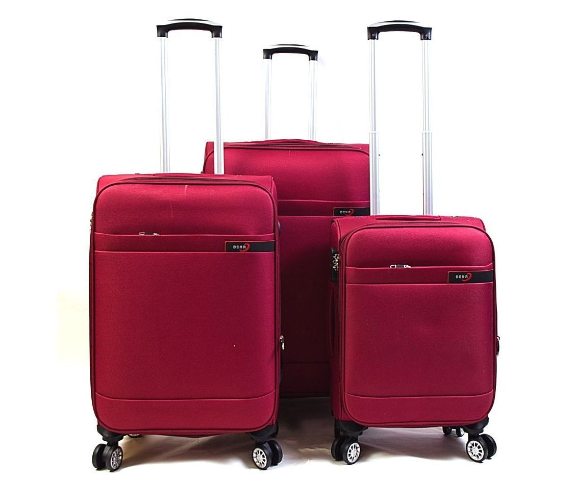 Trolley-CASE TC-882 4w sada 3 kufru červené E-batoh