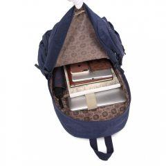 Kvalitní tmavě modrý batoh s vodoodpudivou úpravou Miss Lulu Lulu Bags (Anglie) E-batoh