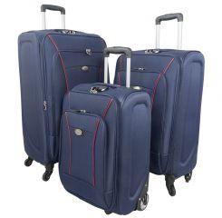 Cestovní kufr MONOPOL 3303 modrý S