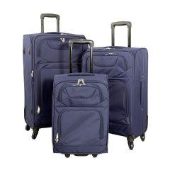 Cestovní kufr MONOPOL TAHITI modrý S
