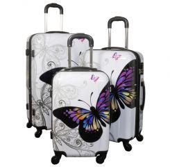 Cestovní kufry sada ABS MOTÝL TR-A29E