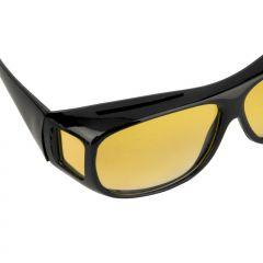 Sluneční brýle na dioptrické brýle tmavě-žlutá čočka E-batoh