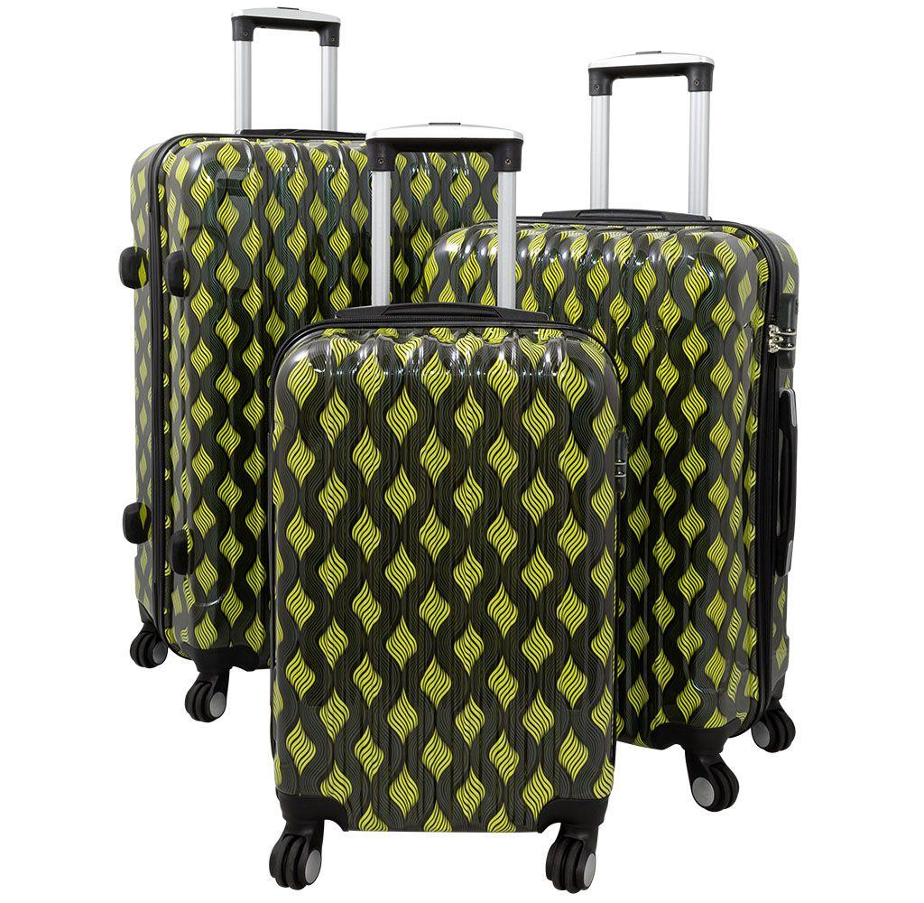 Cestovní kufr BOLOGNA velký L zelený MONOPOL E-batoh